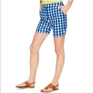 Boden Richmond Check Blue/ White Shorts UK 10 US 6